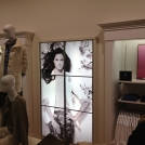 Back-lit retail graphics for Talbots