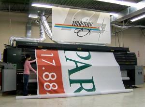 HP XL 1500 Grand Format 16 foot Printer at ICL Imaging