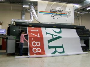 Printing a Building Wrap on 16 Foot Wide Printer at ICL Imaging