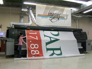 Printing up to 16 feet wide for Trade Show Signage