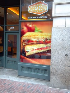 Cheese Boy Window Graphic printed by ICL Imaging