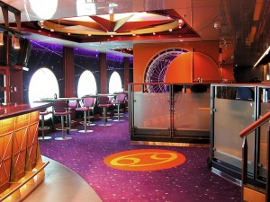 ICL printed acoustical wall covering for this cruise ship