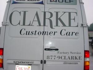 Clarks Appliances Van Graphics