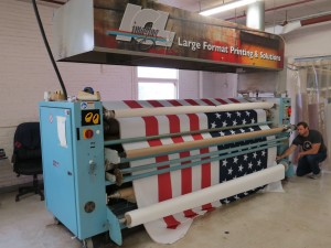 Fabric Graphics Transfer Machine used to heat transfer fabric produced by ICL Imaging, Large Format Printers near Boston, MA