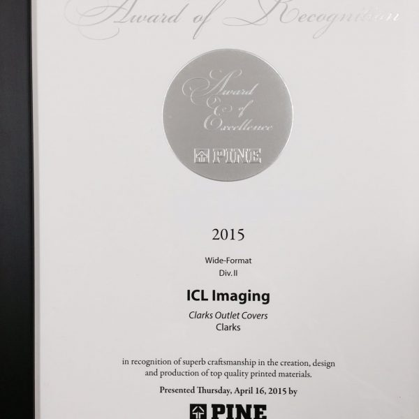 ICL IMAGING WINS THE PINE AWARD OF EXCELLENCE