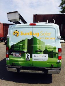 Vehicle Vinyl Covering the rear window of this van by ICL Imaging - Window Clings