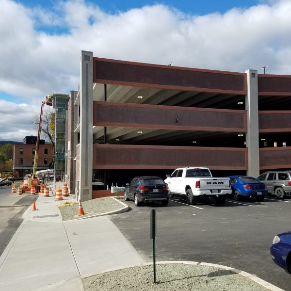 "City of Greenfield parking garage ""before"""
