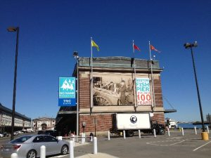 Fish Pier Building Banner by ICL Imaging