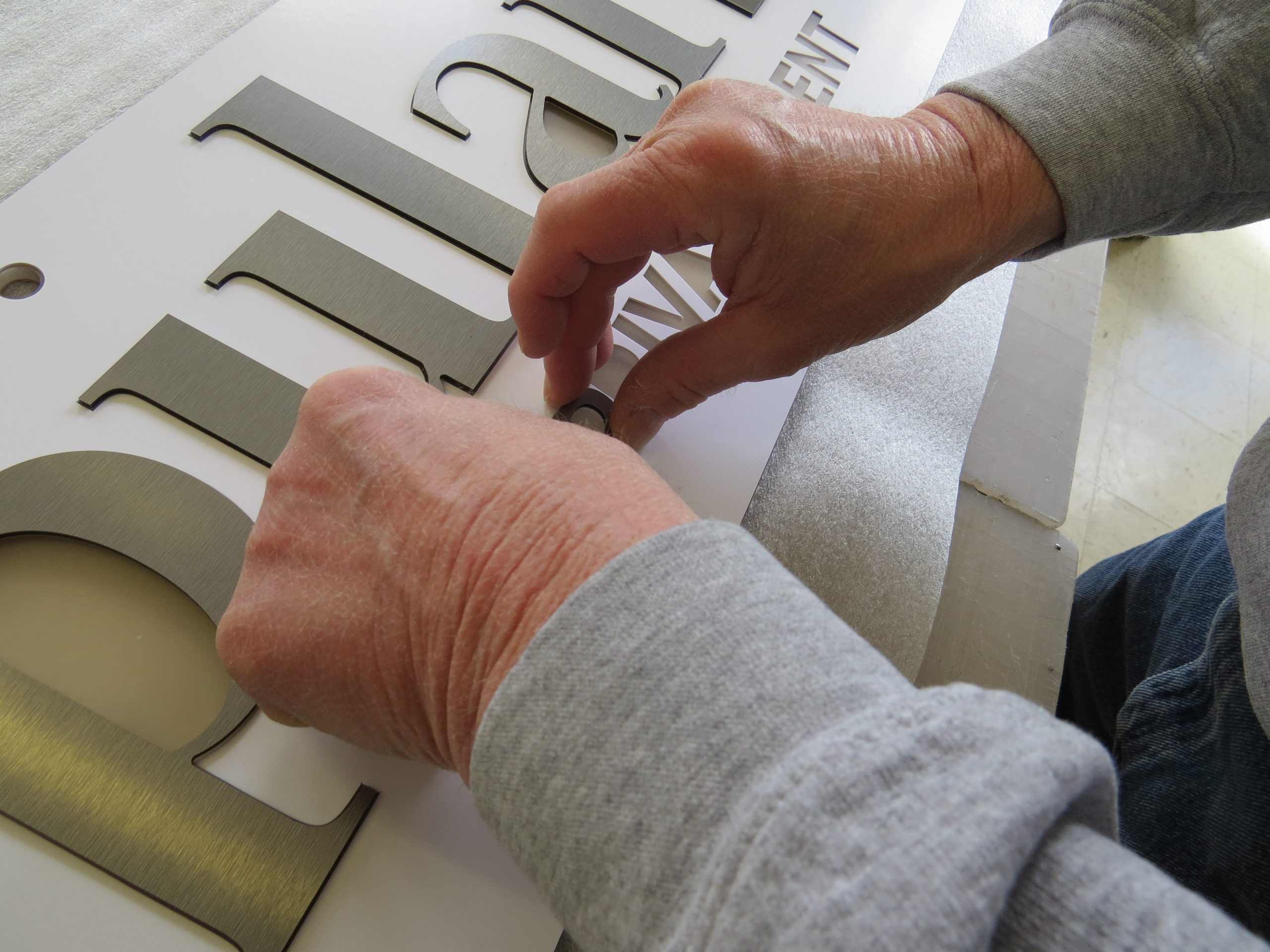 3D Cut Letters & Logos 3D Letters being assembled by ICL Imaging