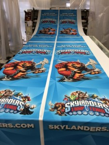 Table Drapes being Printed by ICL Imaging