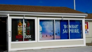 Liquor Store with Window Graphics printed by ICL Imaging