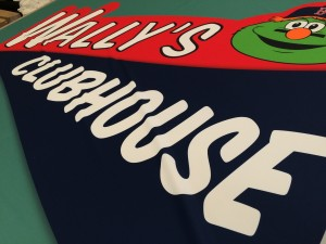 Wally's Clubhouse Fabric Banner for Fabric Graphic Specs printed by ICL Imaging