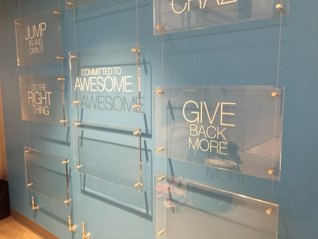 Lobby Plexiglass Signage by ICL Imaging