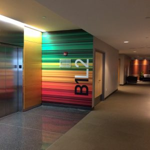 Corporate Interior Wall Mural by the Elevator