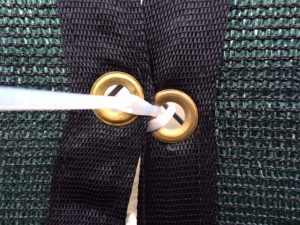 Tied Grommets from Reinforced Mesh Banner