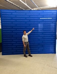 12' x 10' Collapsable Fabric Banner Stand by ICL Imaging