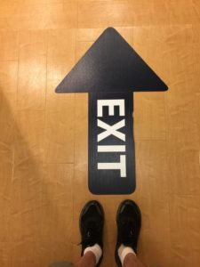 Floor graphic - exit arrow by ICL Imaging