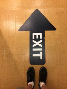EXIT FLOOR GRAPHIC