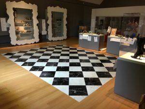 floor graphic checkerboard example in high-end retail setting - printed by ICL Imaging