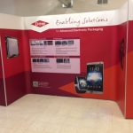 ICL printed and fitted these trade show graphics onto this magnetic pop-up