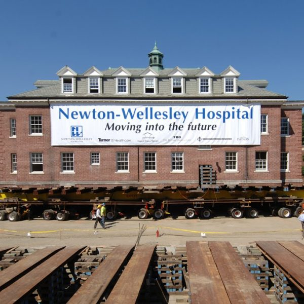 Newton-Wellesley Hospital Moving Banner printed by ICL Imaging, Large Format Printing