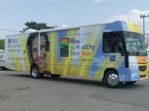 RV Wrapped in Vehicle Vinyl for Skin Cancer Foundation