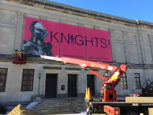 Outdoor Vinyl Banner for Worcester Art Museum, printed by ICL Imaging, Large Format Printers, Framingham, MA, near Boston