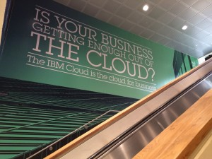 IBM Wall Mural at Logan printed by ICL Imaging, Large Format Printers, Framingham, MA, near Boston