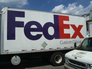 Fulfillment Shipping FedEx, image of a FedEx Truck