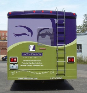 Athena's RV Vehicle Wrap - Truck Wrap printed by ICL Imaging