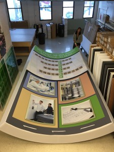 Curved Fabric Tower used for Exhibit Graphics by ICL Imaging