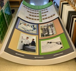 Curved fabric tower Trade Show Signage & Event Graphics.. Printing & Finishing by ICL Imaging