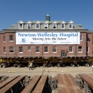 Outdoor Banner at Newton Wellesley Hospital