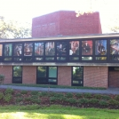 Brandeis College Window Cling Graphics
