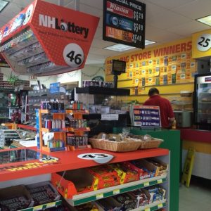 NH Lottery Store with Adhesive Vinyl Graphics
