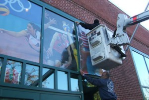 Window Graphic Installation by ICL Imaging Large Format Printing & Solutions near Boston, MA
