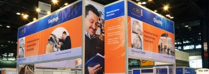 Oxford Trade Show Signage & Graphics by ICL Imaging; Exhibit by IDEC