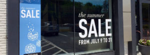 Sale window clings for retail
