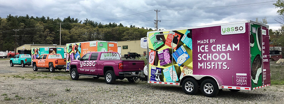 Vehicle & Trailer Wraps for Yasso
